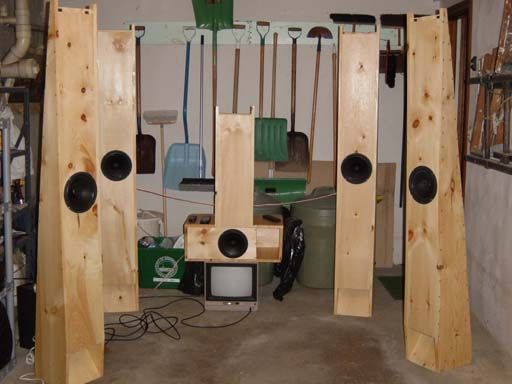 Voight Pipes In Surround Sound Including A Center